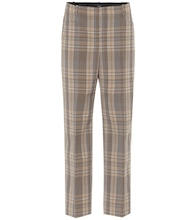 Sloe checked high-rise slim pants