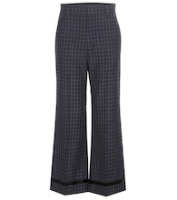 Check wool trousers