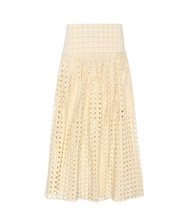 Embroidered eyelet skirt