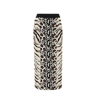 Exclusive to Mytheresa – Animal-jacquard midi skirt