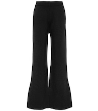High-rise wool-blend flared pants