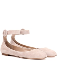 Exclusive to mytheresa.com – Virna Flat suede ballerinas