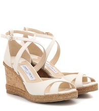 Alanah 80 leather wedge sandals