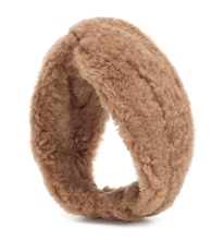 Ovidio camel wool and silk headband