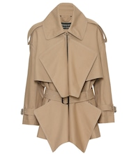 Short panelled trench coat