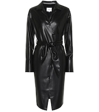 Ailsa faux leather wrap dress