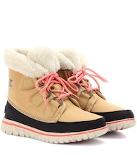 Cozy™ Carnival Sherpa fleece lined ankle boots