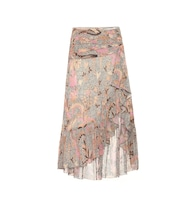 Ailie cotton and silk-blend skirt