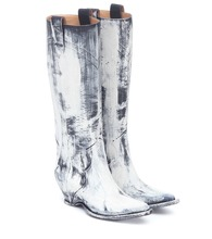 Painted knee-high cowboy boots