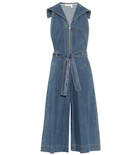 Denim stretch-cotton jumpsuit