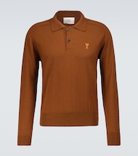 Ami de Coeur long-sleeved polo shirt