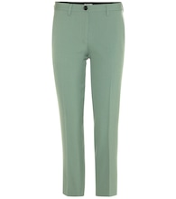 Cropped crêpe trousers