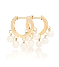 14kt gold hoop earrings with pearls