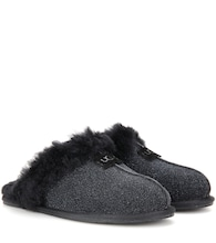 Scuffette II shearling-lined suede slippers