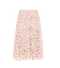Lace cotton-blend skirt