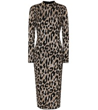 Leopard-printed midi dress