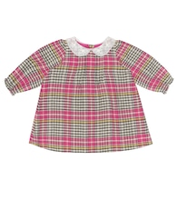 Baby Magnolia checked cotton dress