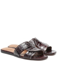 Candice croc-effect leather slides