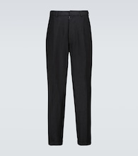 Smooth linen pants