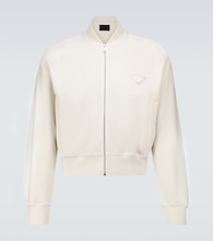Garment-dyed cotton bomber jacket