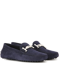 Gommini Double T suede loafers