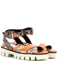 Valentino Garavani Covered printed leather sandals