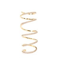Bliss Articulated 18kt gold ring with diamonds