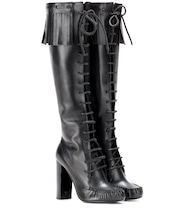 Santa Fe leather knee boots