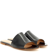 Capri patent leather sandals