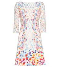 Printed crêpe mini dress