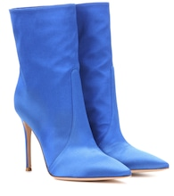 Melanie satin ankle boots
