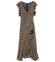 Jolecia leopard-print chiffon wrap dress