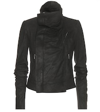 Classic Biker brushed leather jacket