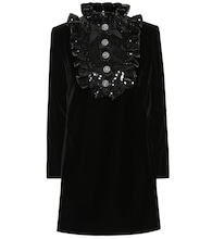Sequined velvet minidress