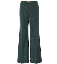 GG striped wool wide-leg pants