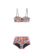 Printed high-waist bikini