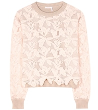 Cotton lace sweater