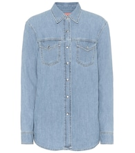 Blå Konst cotton-denim shirt