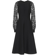 Valentino embellished wool-blend midi dress