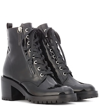 Croft patent leather ankle boots