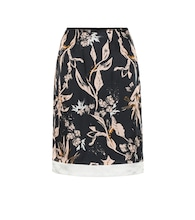 Tamed Florals silk-blend skirt