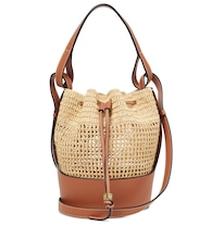 Paula's Ibiza Balloon Small raffia shoulder bag