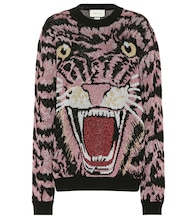 Tiger metallic jacquard sweater