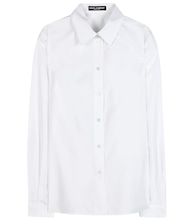 Silk and cotton-blend shirt