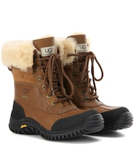 Adirondack II fur-trimmed leather boots