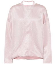 Hammered lamé blouse