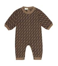 Cotton and cashmere onesie