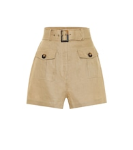 Suraya high-rise linen shorts