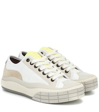 Clint suede-trimmed sneakers