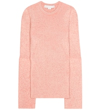 Wool-blend knitted sweater